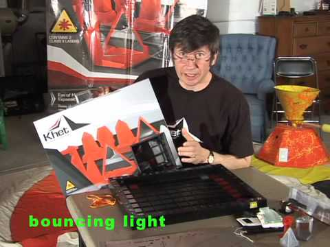 KHET education activity.  Learn how light reflects from a mirror using KHET: the laser game