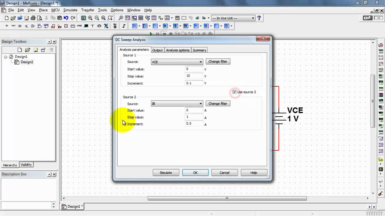 Ni Multisim Bjt Collector Characteristic Youtube This Schematic Is Presented In 7 Simulation Format