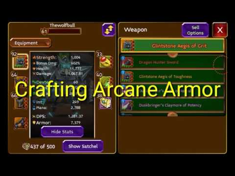 Arcane Legends Crafting Arcane Armor