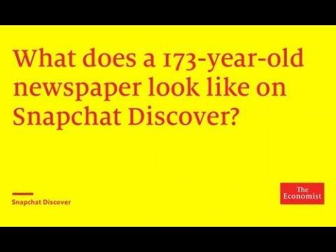 The Economist is on Snapchat