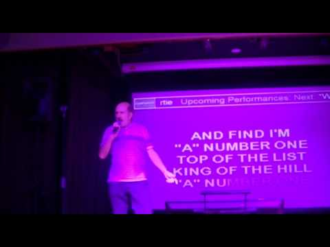 Ian belts out NEW YORK NEW YORK