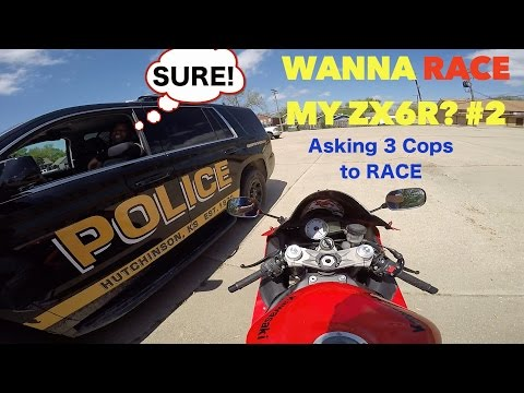 ASKING COPS TO RACE - COOLEST COPS EVER!!!😄