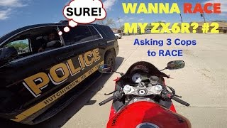 ASKING COPS TO RACE - COOLEST COPS EVER!!!   Asking Cops if they wa...