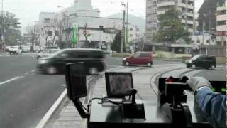 【HD】長崎の超低床路面電車3000形に乗ってみた(公会堂~諏訪神社前)