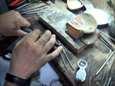 JEWELRY CUSTOMIZER (Video 4) Making of 14k white gold engagement ring with 0.33ct centered diamond