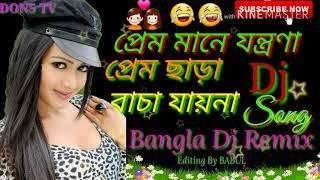 Prem Mane jontrona Prem chara bacha Jay na Bangla  DJ mix song DON5 TV