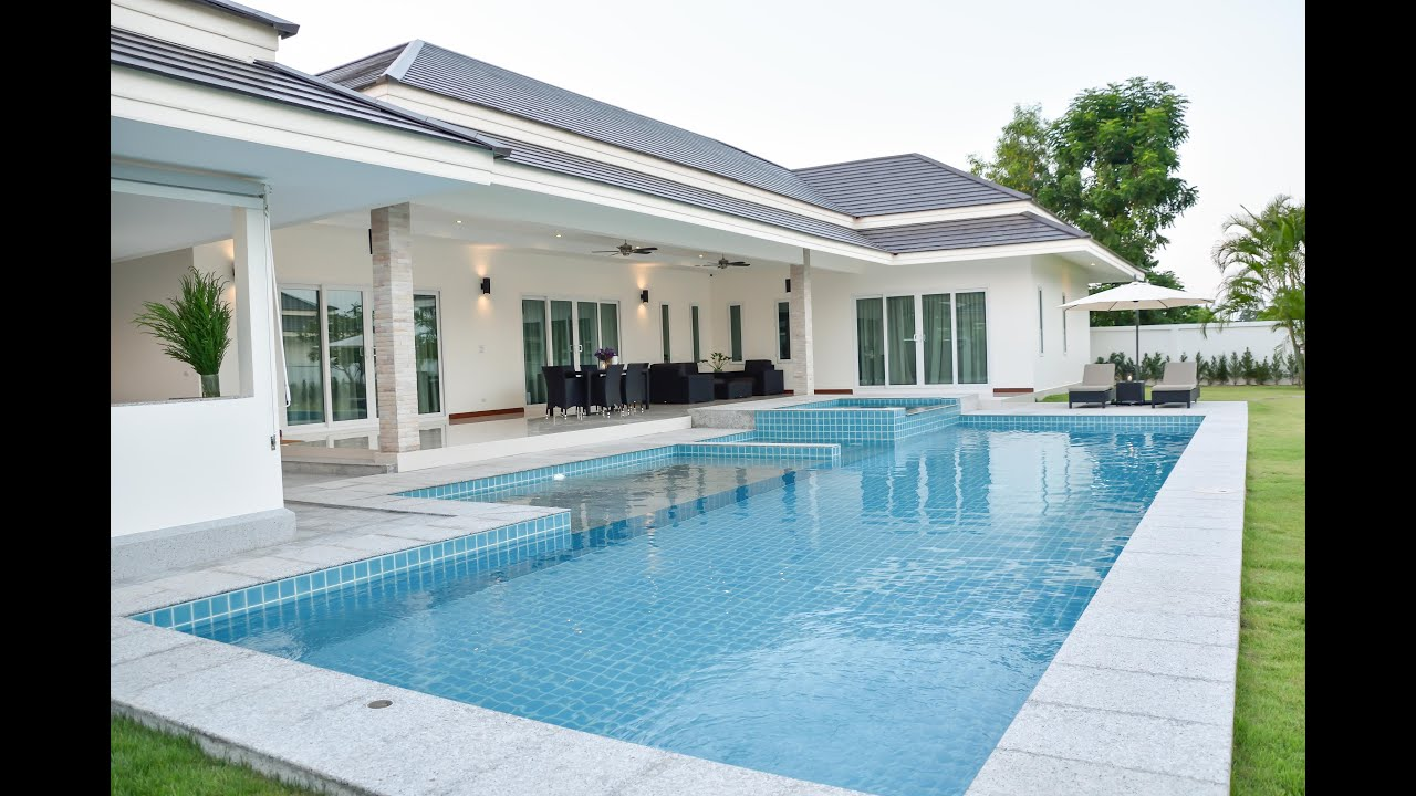 Tulip house private pool villas phetchaburi thailand for Construction pool house piscine