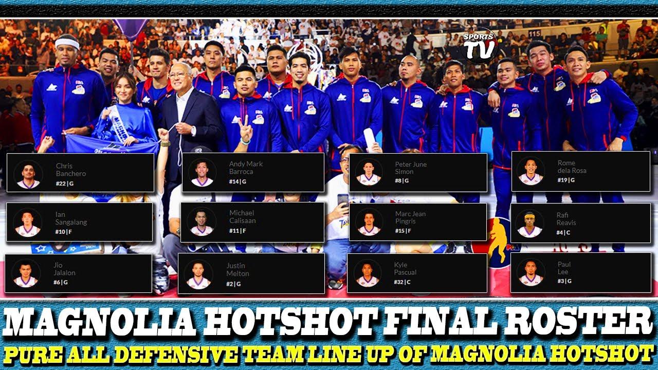 SOLIDONG LINE UP NG MAGNOLIA HOTSHOTS PAMBANSANG MANOK |  PANG PBA ALL DEFENSIVE TEAM ROSTER