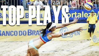 CBV Fortaleza 2018 • TOP WOMEN PLAYS #1 • Beach Volleyball World