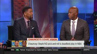 Chauncey breaks down Stephen Curry - Kevin Durant deadly pick&roll   NBA Countdown