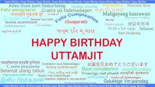 Uttamjit   Languages Idiomas - Happy Birthday