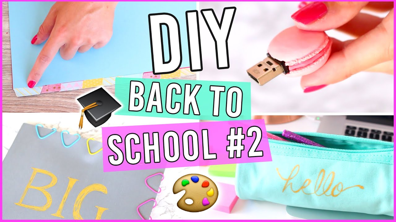 diy back to school 2 customisez vos fournitures scolaires youtube. Black Bedroom Furniture Sets. Home Design Ideas