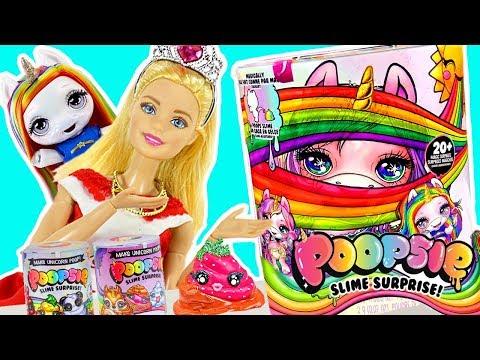 Barbie y su nueva Bebe UNICORNIO Poopside Slime | Sparkly Critters