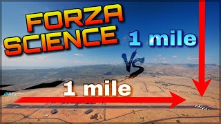 1 MILE RACE vs GRAVITY | Forza Science | Racing or Falling? What´s fa