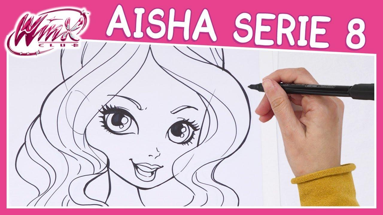 Winx Club Serie 8 Come Disegnare Aisha Tutorial Youtube
