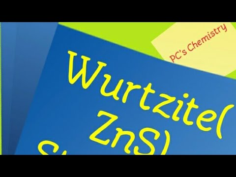 (AB type solid)-WURTZITE STRUCTURE( in Hindi)