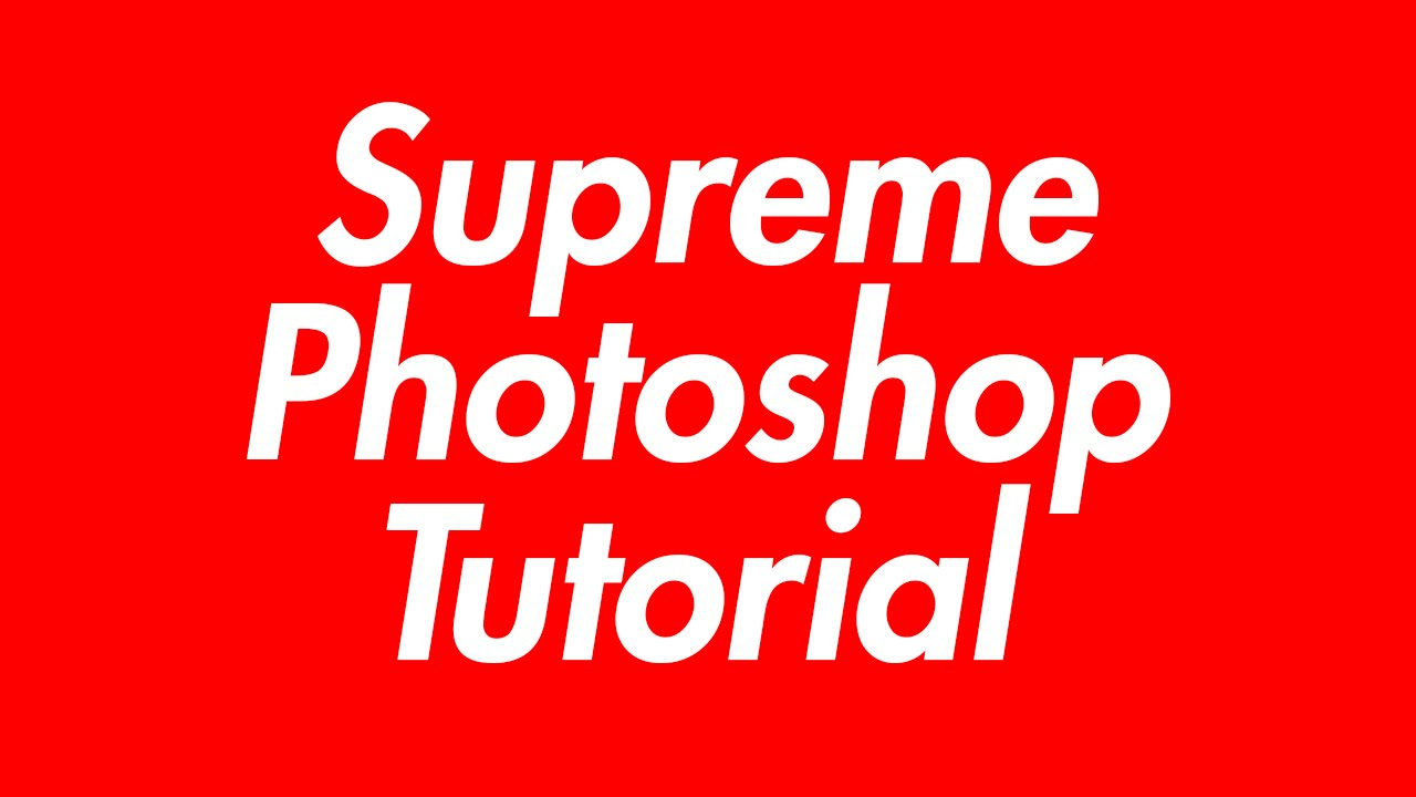 Supreme Logo Style Banner And Font - Photoshop Tutorial ...