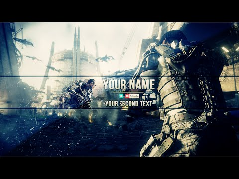 Call of Duty Advanced Warfare Channel Art Template + Tutorial + Download Link