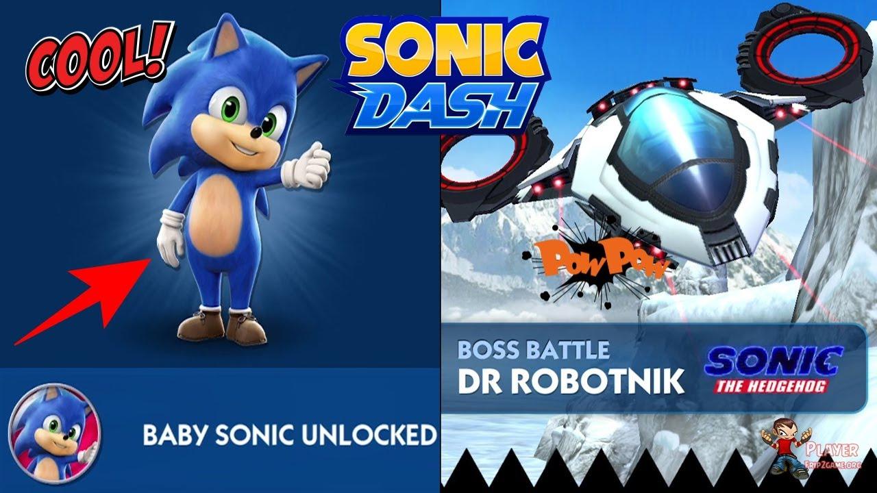 Sonic Dash Baby Sonic Unlocked And Dr Robotnik Boss Battle Defeat