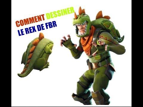 Comment Dessiner Le Rex Fortnite Battle Royale Youtube