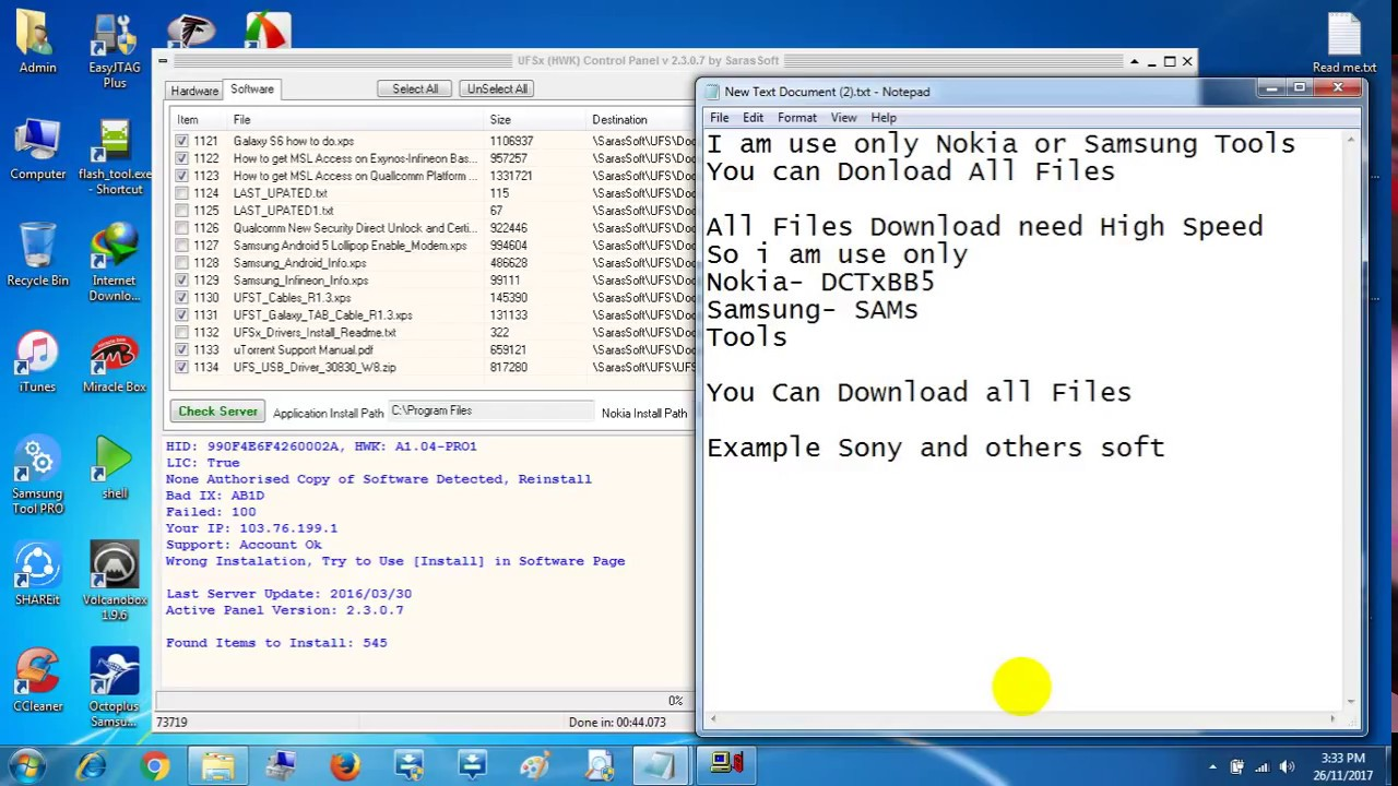 SARASOFT UFS3 DRIVERS WINDOWS XP