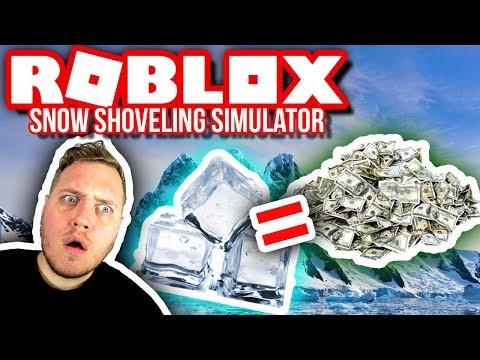 INDTAGER ISBJERGET!! 🤑❄🤑 :: Snow Shoveling Simulator Ep. 7  - Dansk Roblox