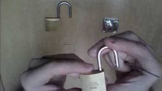 How to open a padlocks, bump key and key lock!