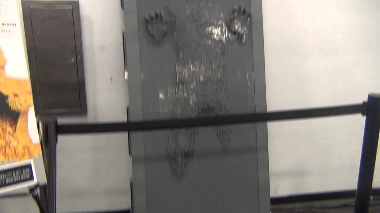 Life Size LEGO Han Solo Frozen in Carbonite