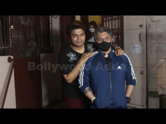 Mohit Suri , Ankit Tiwari & Tara sutaria snapped at dubbing studio in bandra