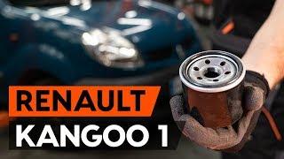 Como substituir a filtro de óleo e óleo do motor no RENAULT KANGOO 1 (KC) [TUTORIAL AUTODOC]