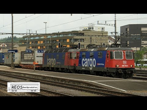2013-2018 [HD] Rotkreuz in the morning: Passenger and freight, SBB Cargo Crossrail IC2000