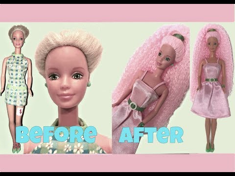 RESCUED DOLL MAKEOVER - Custom Barbie doll