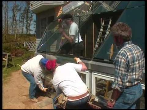 Greenhouse Glass Installation