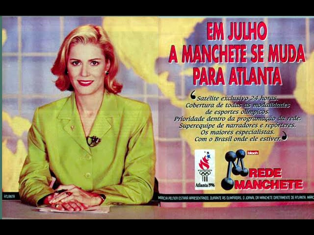 Jornal da Manchete direto de Atlanta - 1996 - Abertura e Encerramento.