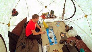 Дом На Льду Зимняя Рыбалка С Ночёвкой