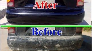 Как удалить царапины, покрасить автомобильный бампер