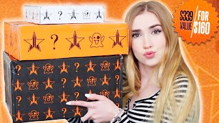 Unboxing Jeffree Star Mystery Boxes!! AND.. doing my makeup w/ what I got !!