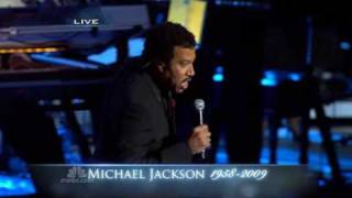 "Lionel Richie sing "" Jesus Is Love "" at Michael Jackson"