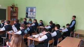 Фрагмент урока русского языка (ч.1)
