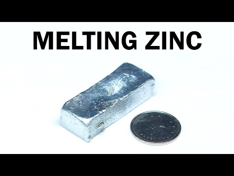 Melting Zinc Battery Casings into an Ingot