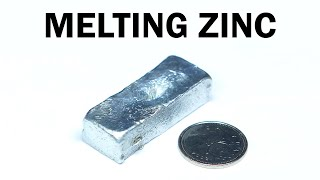 Melting Zinc Battery Casings into an Ingot