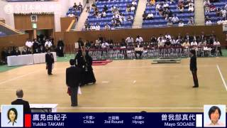 第53回 全日本女子剣道選手権大会 第3回戦 平成26年9月7日(日)・【兵...