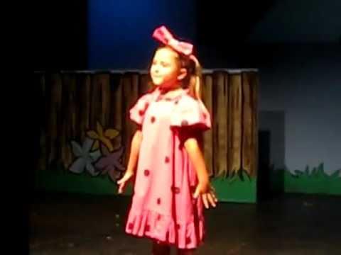 "Hadley Belle Miller as Sally Brown singing ""My New Philosophy""  in You're A Good Man, Charlie Brown!"