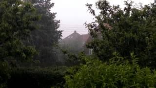 Lidt regn på amager. Ikke helt skybrud