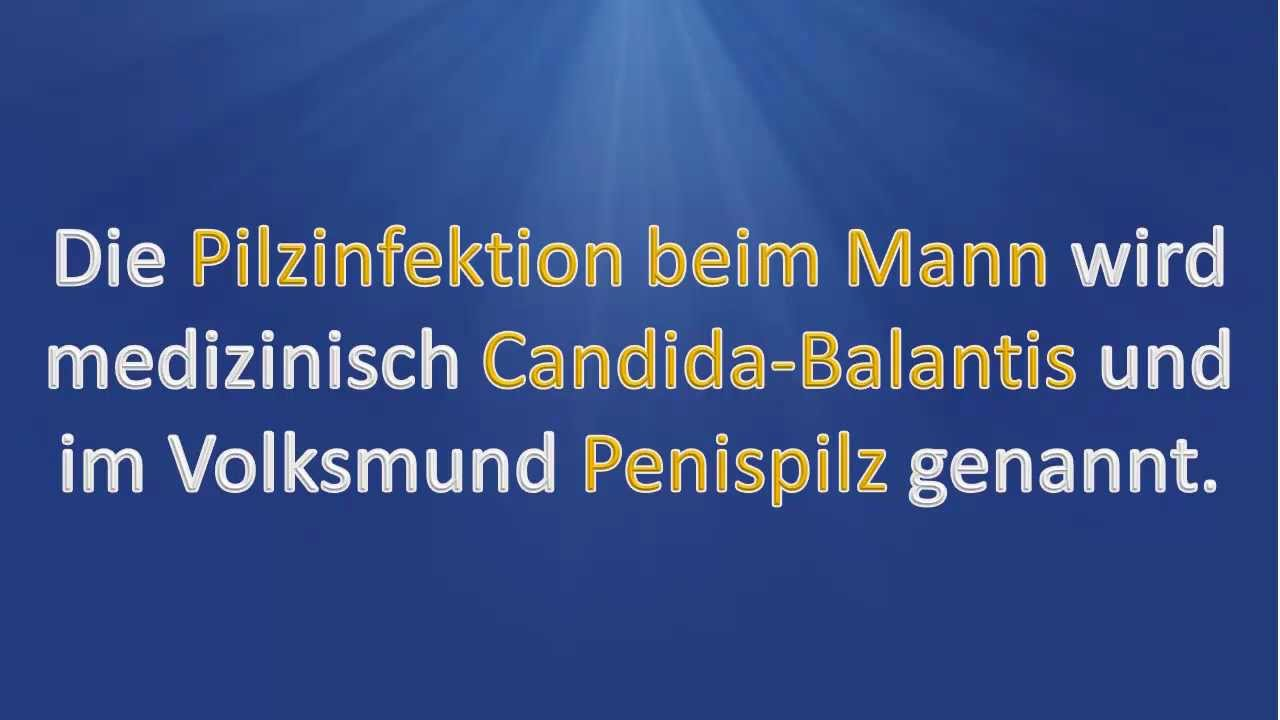 Penispilz - Pilzinfektion Mann - YouTube