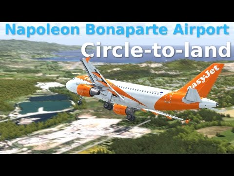 [FSX] Circle-to-land RWY20 - Ajaccio Napoleon Bonaparte Airport