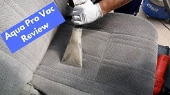 Aqua Pro Vac Carpet Extractor REVIEW - Interior Cleaning and Shampoo Process