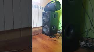 2×logitech z906 subwoofer's excursion