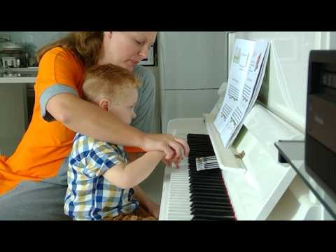 Piano Lesson With 3yo Toddler Tutorial How To Use Piano Games Books By Natasha Mikhaylov