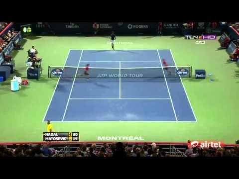 ▶HIGHLIGHTS ROGERS CUP MONTREAL 2013 Rafael Nadal Vs Marinko Matosevic QF
